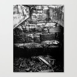 Virgil Avenue Bones Black & White Canvas Print