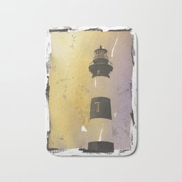 Bodie Island lighthouse at sunset in the Outer Banks (OBX) of North Bath Mat