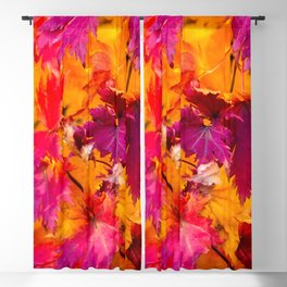Red Maple Leaves Blackout Curtain