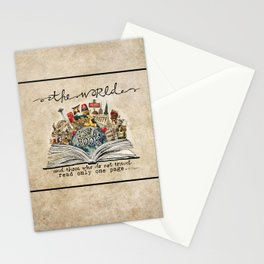 The World Is A Book Stationery Cards