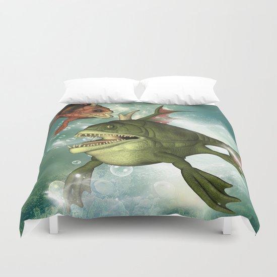 Armour fish Duvet Cover