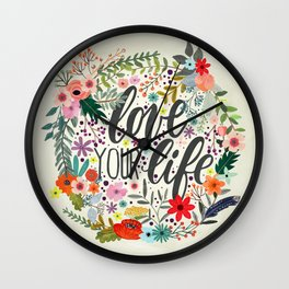 Love Your Life (Quotation Series) Wall Clock