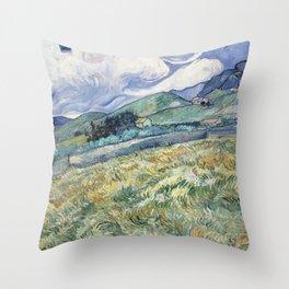 Vincent van Gogh Landscape Saint-Rémy Throw Pillow
