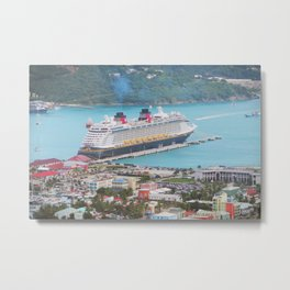 View of our ship Tortola Metal Print