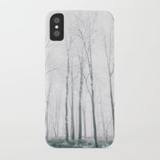 Snowy forest iPhone X Slim Case