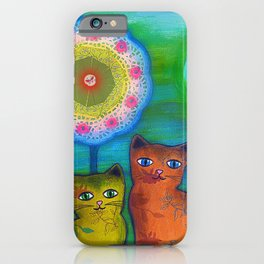 Cats and Trees iPhone Case