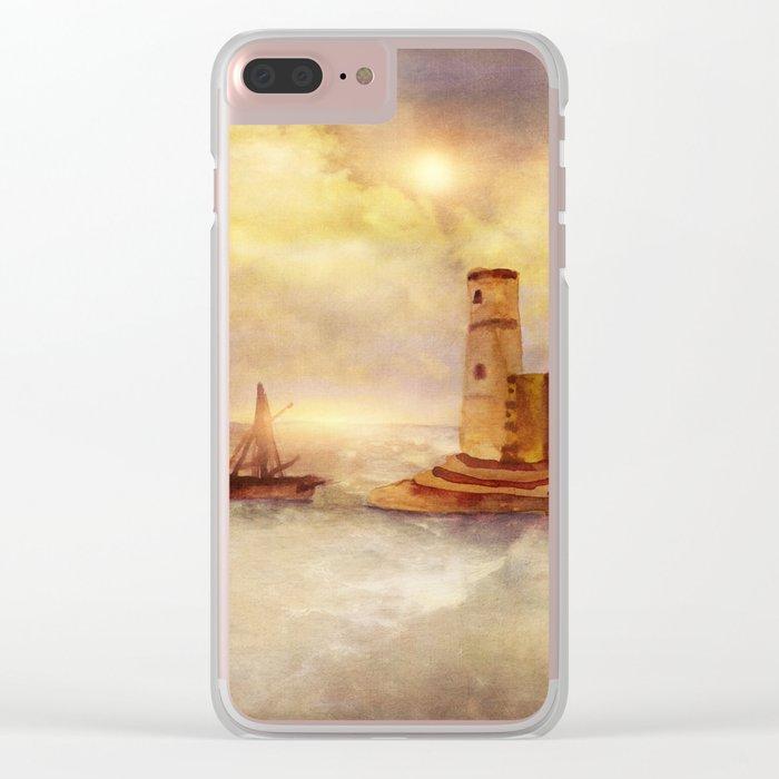 Sun City Clear iPhone Case
