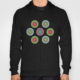 transparent floral pattern 4 Hoody
