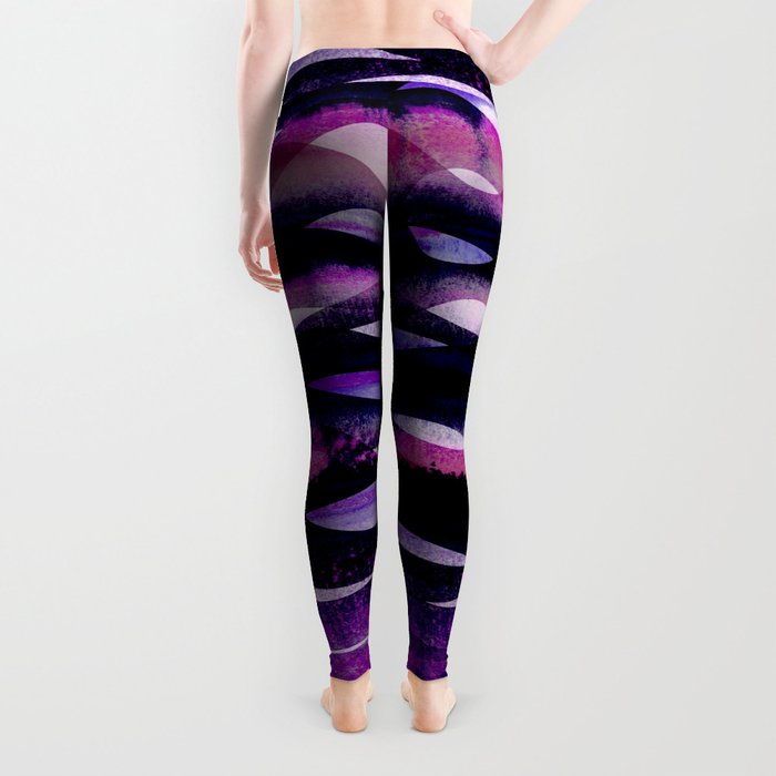 Purple Waves Leggings