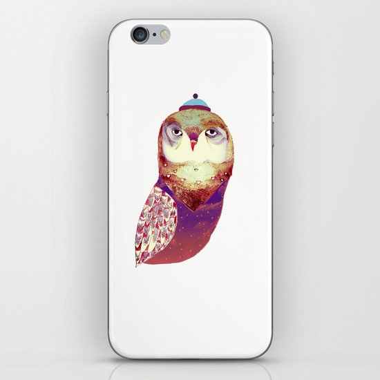 Purple Owl iPhone & iPod Skin