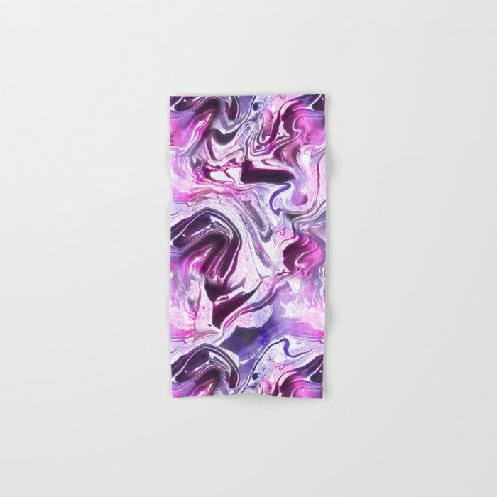 Marble Pattern Purple Pink Abstrat Hand & Bath Towel