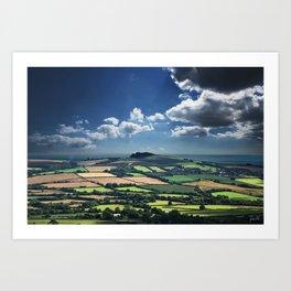 Dorset Summer Coastline Art Print