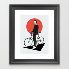 The wheel is come full circle. I am here Framed Art Print