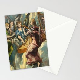 "El Greco (Domenikos Theotokopoulos) ""The Annunciation (angels)(1597-1699)"" Stationery Cards"
