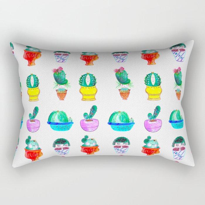 Cute Cacti Rectangular Pillow