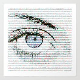 Blue eye colour variant Art Print