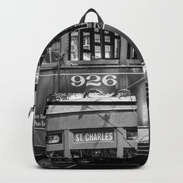 New Orleans Streetcar on a Rainy Day Backpack