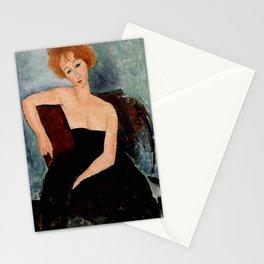 "Amedeo Modigliani ""Redheaded Girl in Evening Dress"" Stationery Cards"