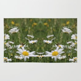 Wildflowers and Bee (pattern) Rug