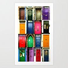 Doors of Ireland Art Print