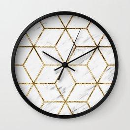 Gatsby golden marble Wall Clock
