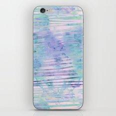 Modern hand drawn geometric stripes purple watercolor pattern iPhone & iPod Skin
