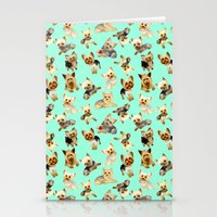 yorkie Stationery Cards featuring Yorkie Pattern by Bark Point Studio