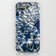 Blue Bubbles Macro photography River stream underwater abstract art bright bold vibrant color! Slim Case iPhone 6s