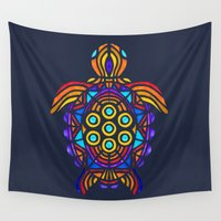 turtle Wall Tapestries featuring Turtle by ArtLovePassion