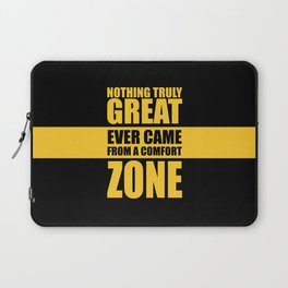 Lab No. 4 - Nothing Truly Great Ever Came From A Comfort Zone Gym Inspirational Quotes Poster Laptop Sleeve