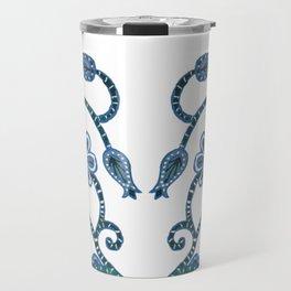 Blue Paisley Heart Travel Mug