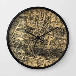 Vintage Map of Maplewood NJ (1910) Wall Clock