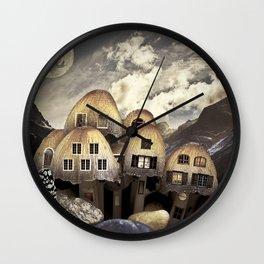 Mushrom Village Wall Clock