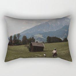 Biking through the Austrian Alps Rectangular Pillow