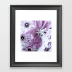Flowers Purple Framed Art Print