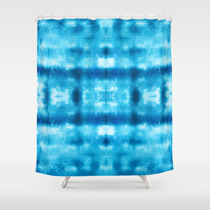 Bohemian Shibori Tie Dye Shower Curtain By Rosiemiranda