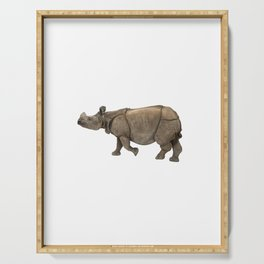 Indian Rhinoceros Serving Tray