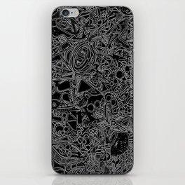 White/Black #1 iPhone Skin