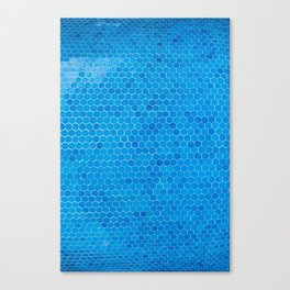 Turquoise Sequins Canvas Print