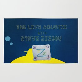 life aquatic with steve zissou flag Rug