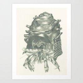 Tenants Within (Samurai Helmet) Art Print