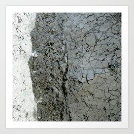 Grey Cement Art Print