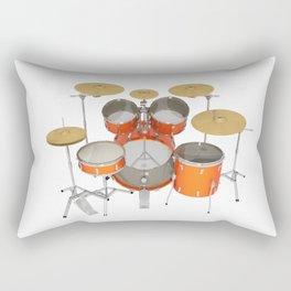 Orange Drum Kit Rectangular Pillow