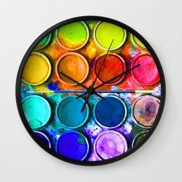 Watercolor Art Palette Wall Clock