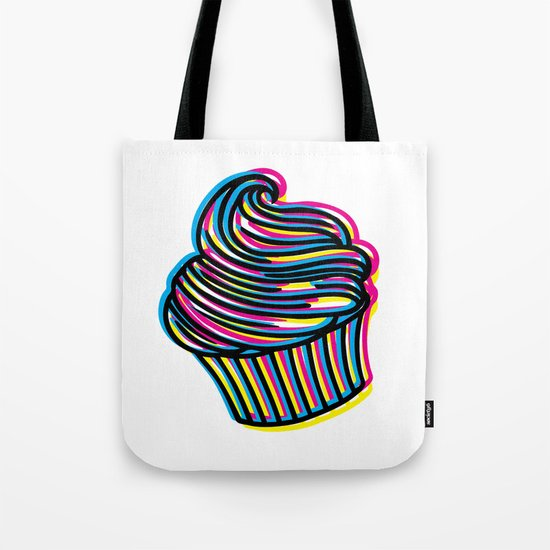 CMYK Cupcake Tote Bag