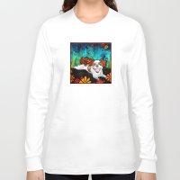 shih tzu Long Sleeve T-shirts featuring Shih Tzu by RobiniArt