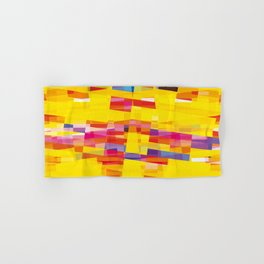 yellow pixel storm Hand & Bath Towel