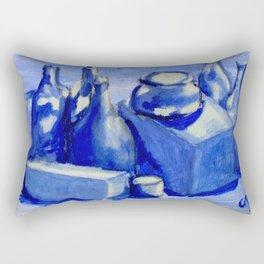Study of Boxes and Bottles Rectangular Pillow