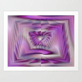 Purple Pleated Spiral Art Print