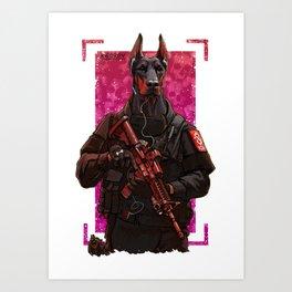 Polise dog two Art Print